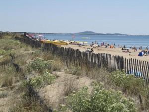 Strandblick im Sommer nach Cap D'Agde